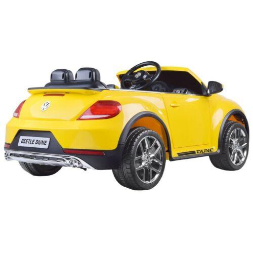 Volkswagen Bogár elektromos kisautó gyerekeknek (távirányítóval, 1 személyes) hátulról