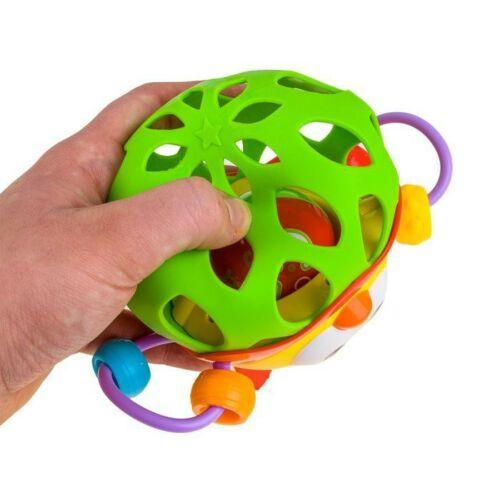 Baglyos, összenyomható csörgő játék labda (6 hó+)