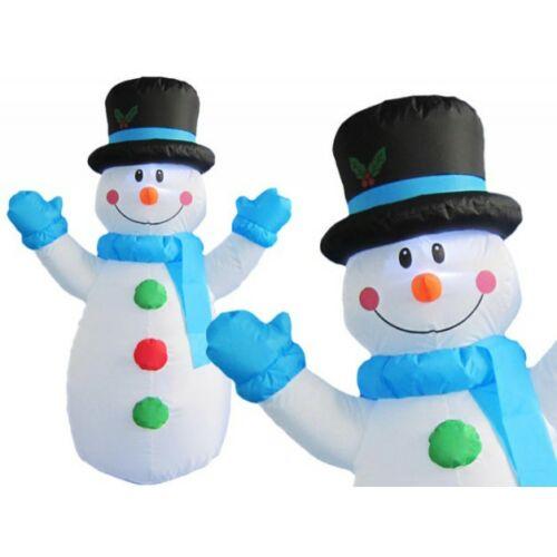Téli dekorációnak felfújható és világító Hóember (120 cm)