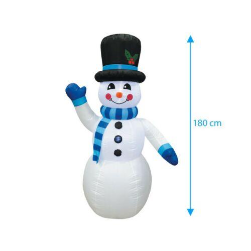 Téli dekorációnak felfújható és világító Hóember (180 cm) mérete