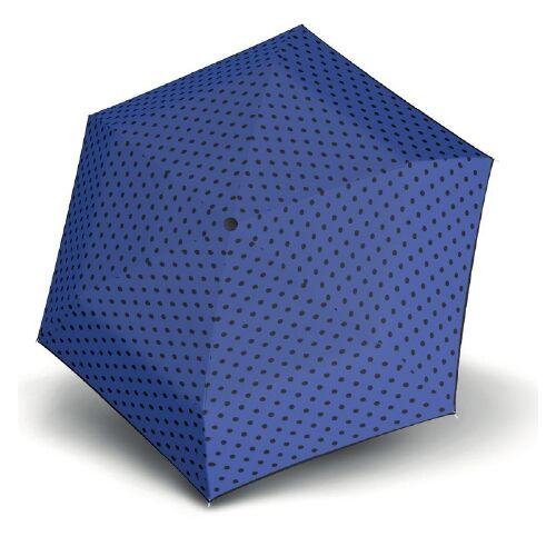 Derby kézi nyitású pöttyös esernyő (Flat Dots) kék