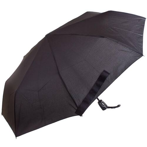 D mintájú (fekete) esernyő nyitva