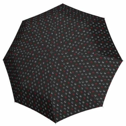 Derby kézi nyitású női esernyő (Hit Mini Highlight) szürkés nyitva