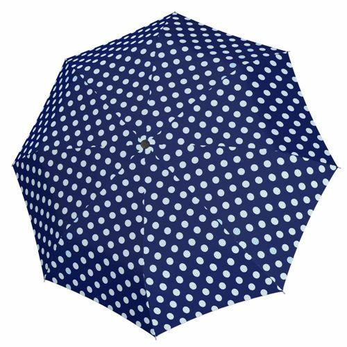 Derby kézi nyitású női esernyő (Hit Mini Balloon) sötétkék nyitva