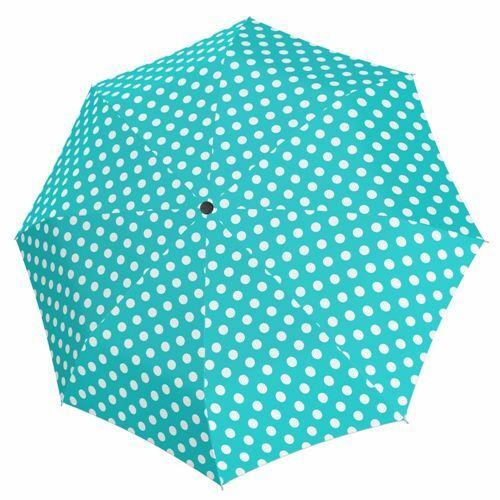 Derby kézi nyitású női esernyő (Hit Mini Balloon) türkiz nyitva