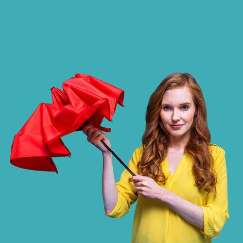 Doppler kézi nyitású esernyő (Zero 99) használatban