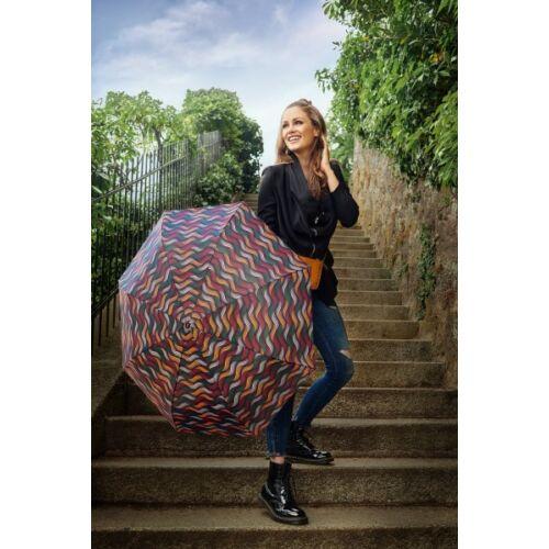 Doppler automata női esernyő (Fiber Magic Gravity) narancssárga használatban