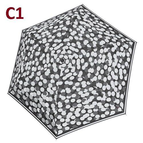 C1 -minta - Doppler kézi nyitású női esernyő (Fiber Havanna Black & White)