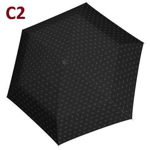 C2 -minta - Doppler kézi nyitású női esernyő (Fiber Havanna Black & White)