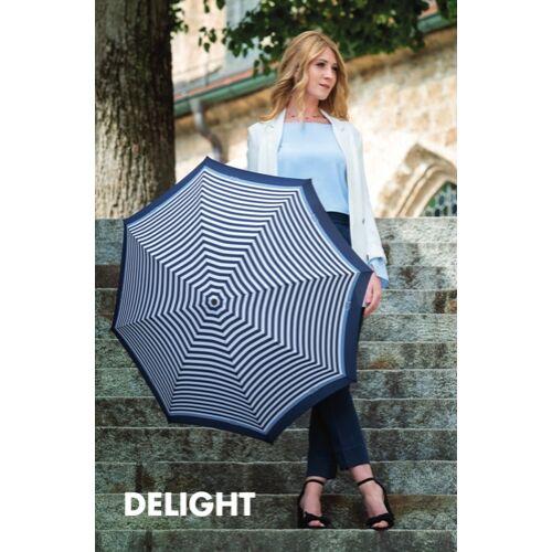 Doppler automata női esernyő (Magic Delight Carbonsteel) kék használatban