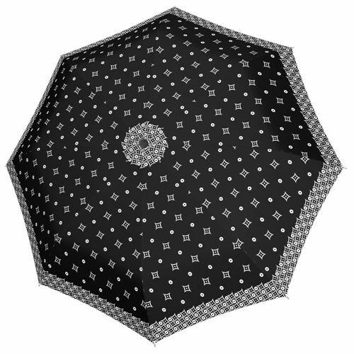 Doppler automata női esernyő (Fiber Magic Black&White) négyzetes nyitva