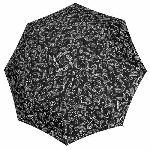 Doppler automata női esernyő (Fiber Magic Black&White) leveles nyitva