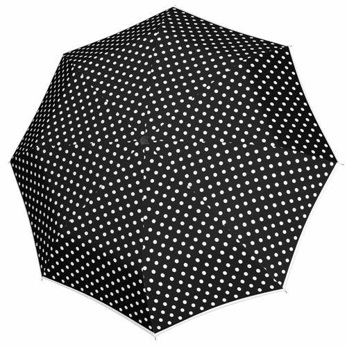 Doppler automata női esernyő (Fiber Magic Black&White) pöttyös nyitva