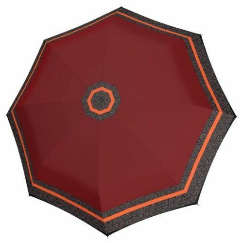 Doppler automata női esernyő (Csíkos, Fiber Magic Style) bordó nyitva