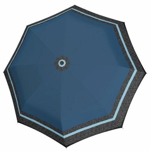 Doppler automata női esernyő (Csíkos, Fiber Magic Style) kék nyitva
