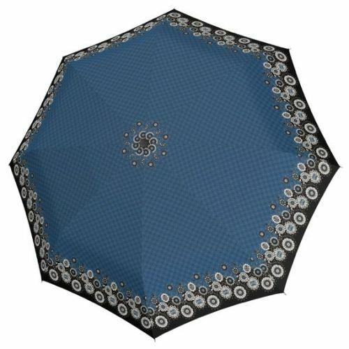 Doppler automata női esernyő (Virágos, Fiber Magic Style) kék nyitva