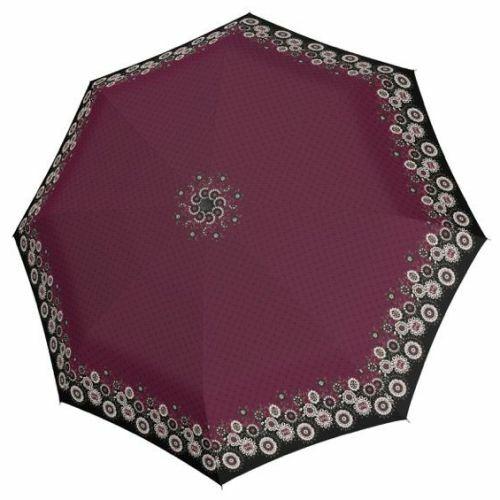 Doppler automata női esernyő (Virágos, Fiber Magic Style) lila nyitva