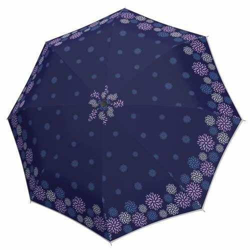 Doppler félautomata női esernyő (Fiber Style) kék nyitva