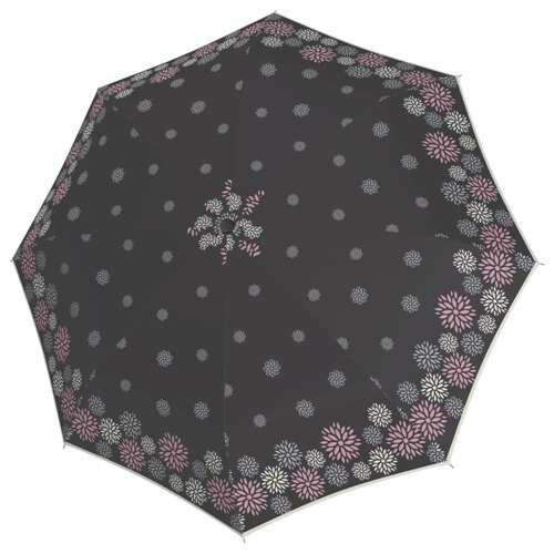 Doppler félautomata női esernyő (Fiber Style) szürke nyitva