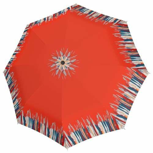 Doppler félautomata női esernyő (Fiber Style) narancssárga nyitva