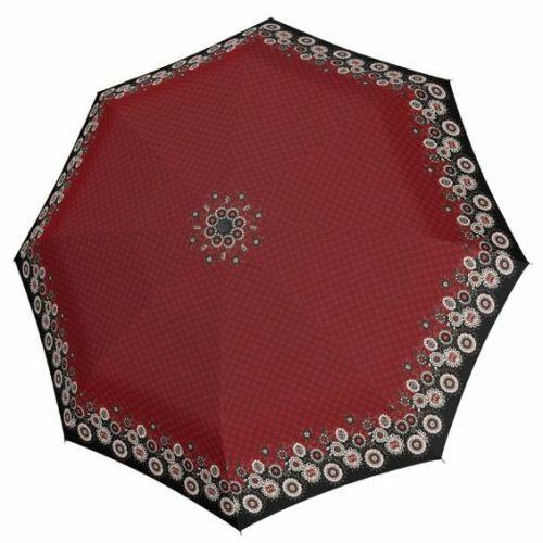 Doppler félautomata női esernyő (Fiber Style) B bordó nyitva