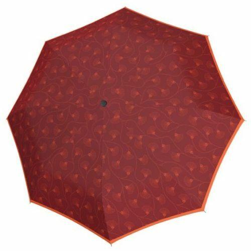 Doppler félautomata női esernyő (Fiber Style) C bordó nyitva