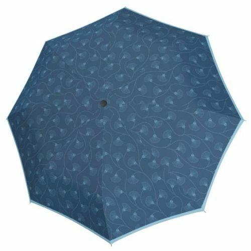 Doppler félautomata női esernyő (Fiber Style) C kék nyitva