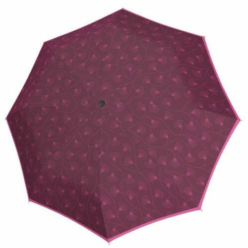 Doppler félautomata női esernyő (Fiber Style) C lila nyitva