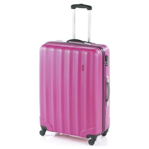 magenta színű bőrönd