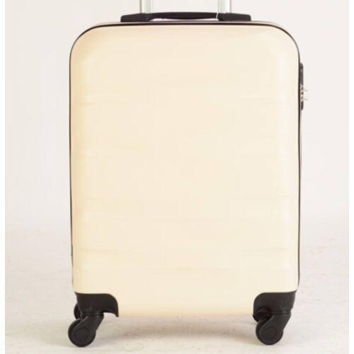 krém színű bőrönd