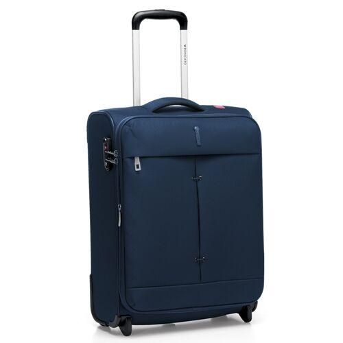 A sötétkék bőrönd