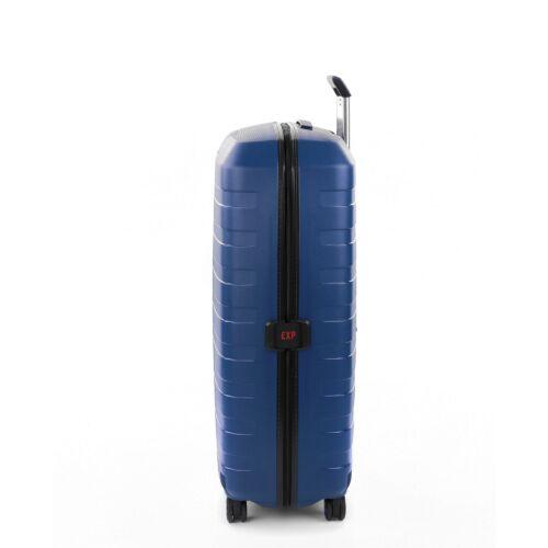 Roncato Box nagy bőrönd (bővíthető) sötétkék oldalról