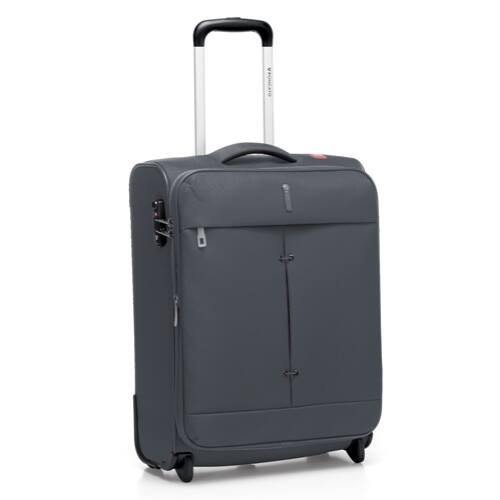 A sötétszürke bőrönd