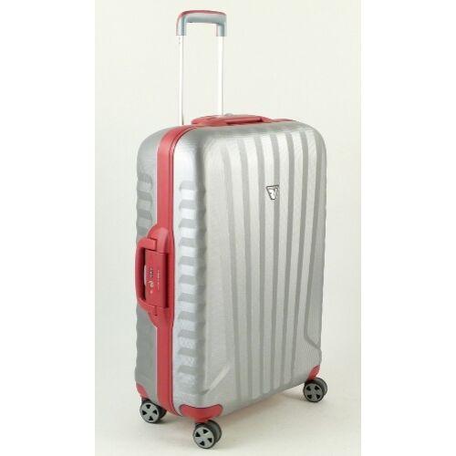 ezüst-piros bőrönd