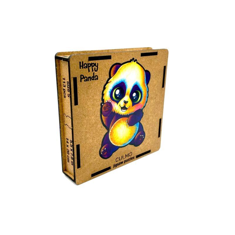 Vidám Panda különleges fa puzzle (115 db-os, 14+)