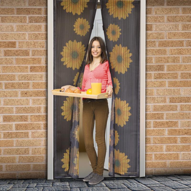 Mágneses szúnyogháló ajtóra (100×210 cm) napraforgó virágos
