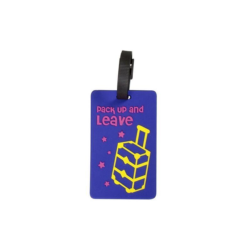 Feliratos bőröndcímke