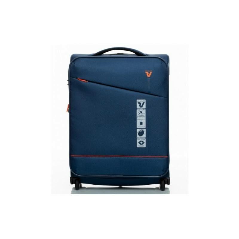 Roncato Jazz bővíthető kabinbőrönd kék