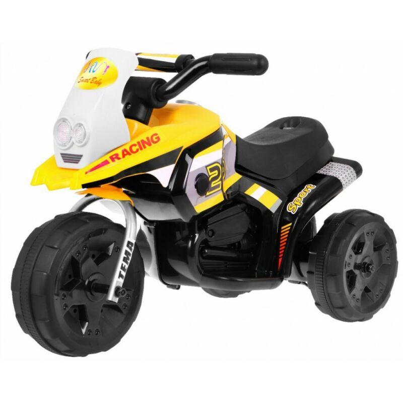 3 kerekű elektromos kisMotor gyerekeknek sárga