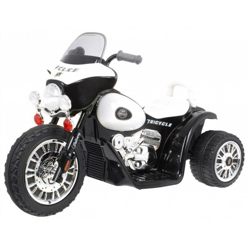 Rendőr Chopper elektromos kisMotor gyerekeknek (3 kerekű) fekete
