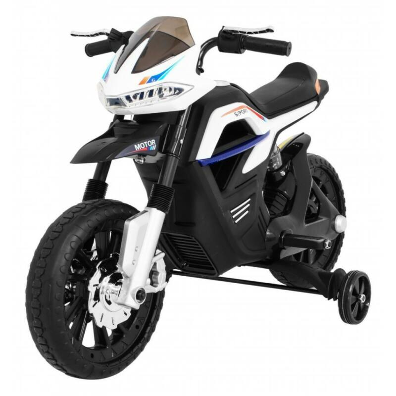 Night Rider elektromos kisMotor gyerekeknek (segédkerekekkel) fehér