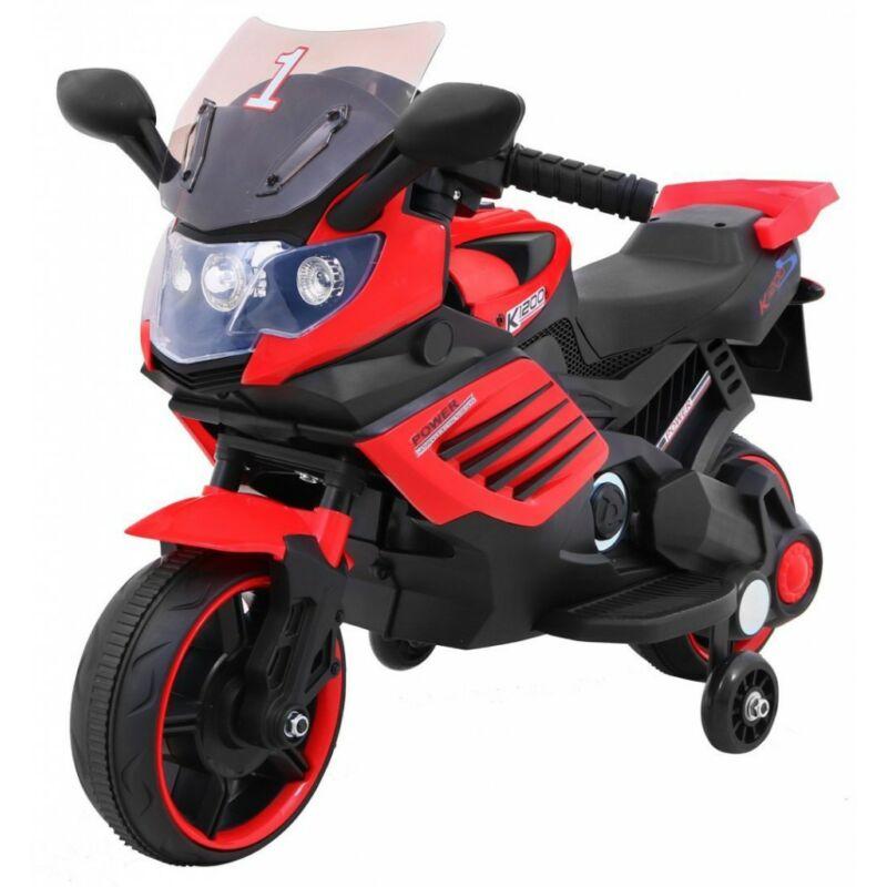 Power elektromos kisMotor gyerekeknek (segédkerekekkel) piros