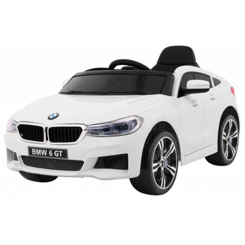 BMW 6 GT elektromos kisautó gyerekeknek (távirányítóval, 1 személyes) fehér