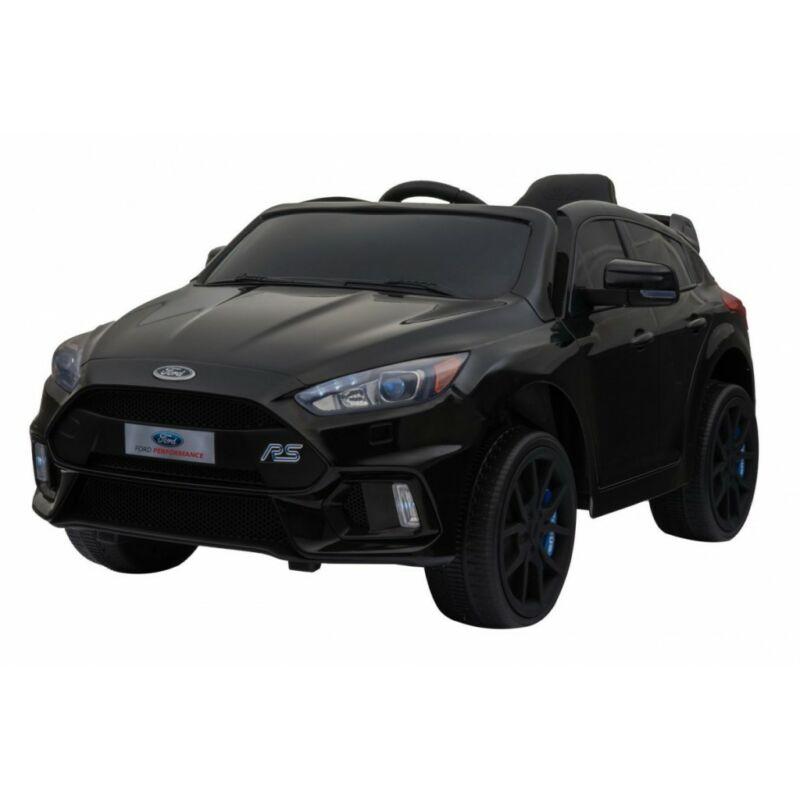 Ford Focus RS elektromos kisautó gyerekeknek (távirányítóval, 1 személyes) fekete