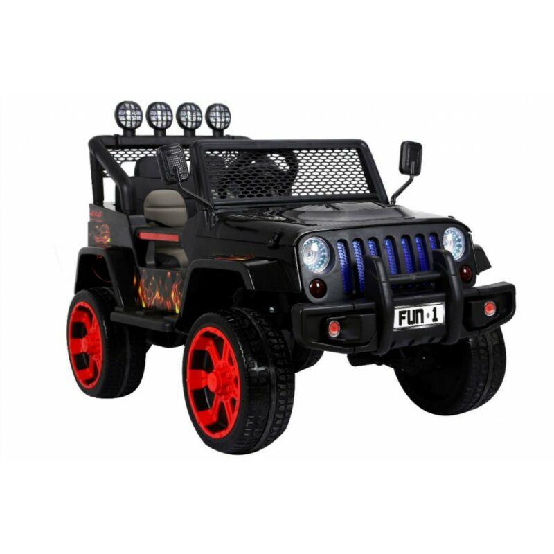 Raptor DRIFTER 4x4 elektromos kisautó gyerekeknek (távirányítóval, 1 személyes) fekete