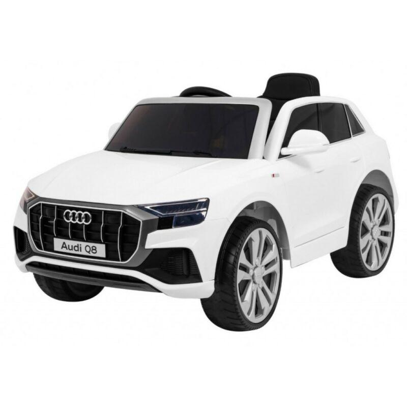 Audi Q8 elektromos kisautó gyerekeknek (távirányítóval, 1 személyes) fehér