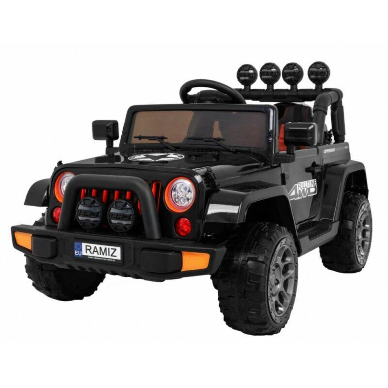 Full Time off-road 4WD elektromos kisautó gyerekeknek (távirányítóval, 1 személyes) fekete