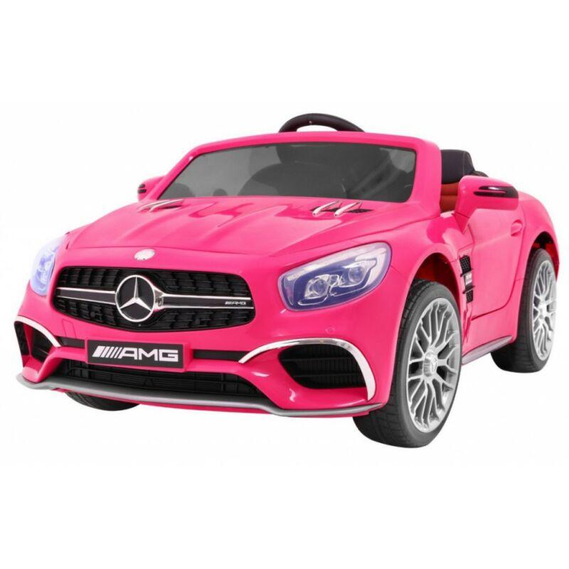 Mercedes AMG SL65 elektromos kisautó gyerekeknek (távirányítóval, 1 személyes) rózsaszín