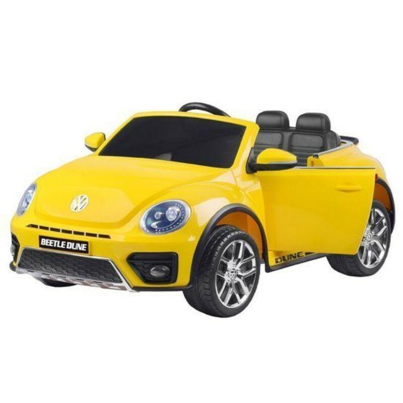 Volkswagen Bogár elektromos kisautó gyerekeknek (távirányítóval, 1 személyes) sárga