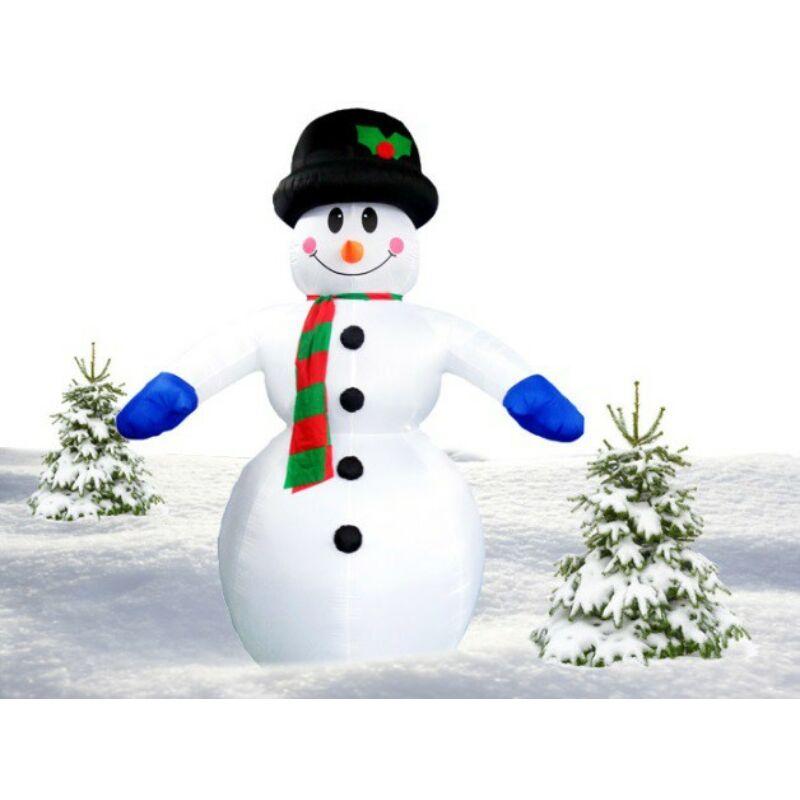 Téli dekorációnak ÓRIÁS felfújható és világító Hóember (350 cm)